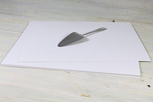 Hobbybäcker® Tortenunterlage für Kuchen & Torten | beschichtete Pappunterlage, rechteckig, 42 x 32 cm, 10 Stück