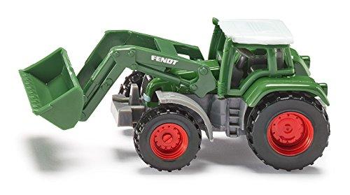 Siku 1039, Fendt Traktor mit Frontlader, Metall/Kunststoff, grün, Beweglicher Frontlader, Abnehmbare Kabine