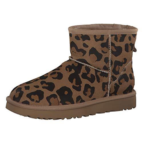 UGG Australia 111571Leo Animal 784012 - Botines para mujer, diseño de leopardo