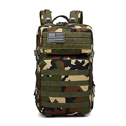 N\C Zaino Tattico Militare da Uomo di Grande capacità da 50 Litri Zaino Tattico Militare 3P Softback Zaino da Esterno Impermeabile per Escursionismo Campeggio Borse da Caccia Colore Mimetico Giungla
