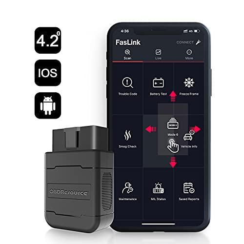 OB D RESOURCE OBD2 Auto Diagnosegerät Bluetooth 4.2 OBDII KFZ Diagnose Scanner für IOS & Android Handy Lesen/Löschen Motor Fehlercode und Batterie Test