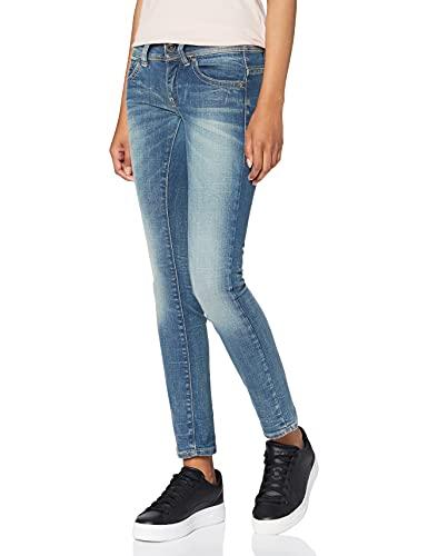 G-STAR RAW Damen Midge Saddle Straight Jeans Mid Waist Straight, Medium Aged 7859-071, 25W / 32L
