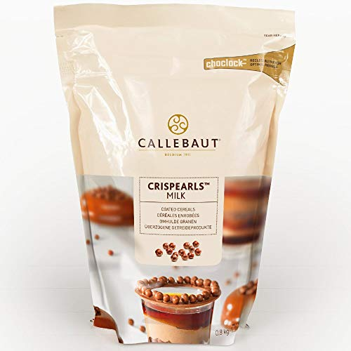 Callebaut Milk Chocolate Crispearls from OliveNation, Chocolate Coated Crunchy Cereal Pearls - 1.76 pounds