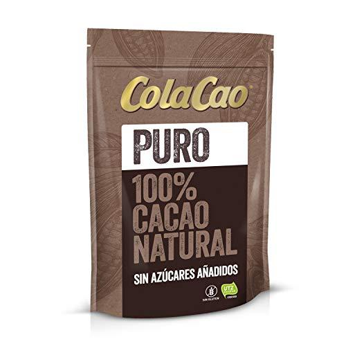 Cola Cao Puro: 100{c98365800181cd95adc07380bf0afe1a5b86b6ef26e90954140a134b79275e64} Cacao Natural y sin Aditivos - Negro, 250 g
