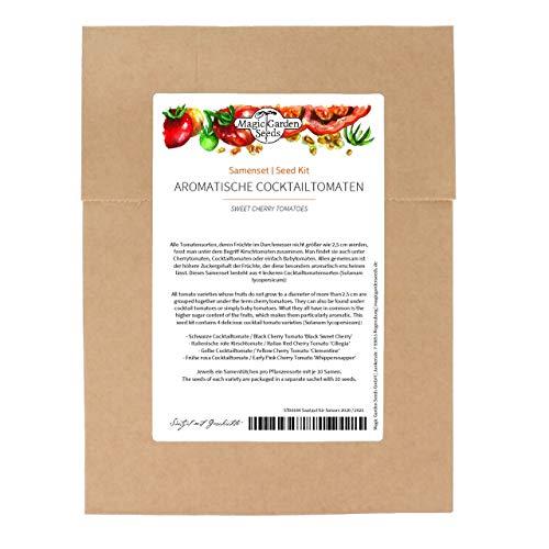 Tomates Cherry -Set de semillas con 4 deliciosas variedades de tomate para cultivar