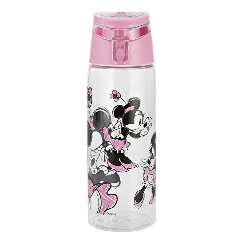Zak Designs Mickey & Minnie Mouse 25 oz. Wide-Mouth Water Bottle, Minnie Mouse