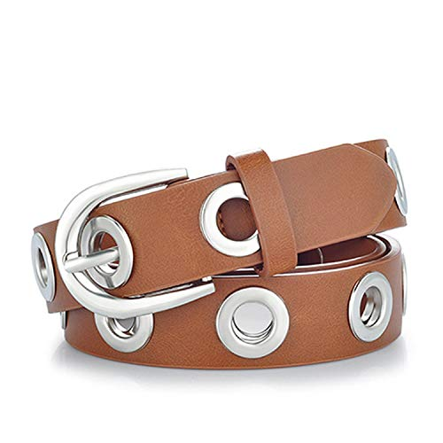 2019 fashion Belts for Women Grommet Duo euramerican style designer pu Leather strap,luggage silver,130cm