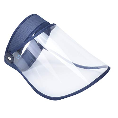 Gesichtsschutz Safety Gesichtsschutzschirm Augenschutz Schutzmaske Vollschutzkappe Breites, Leichtes Verstellbares Transparentes Spuck-Anti-Fog-Objektiv, Gesichtsschutzschild Celucke