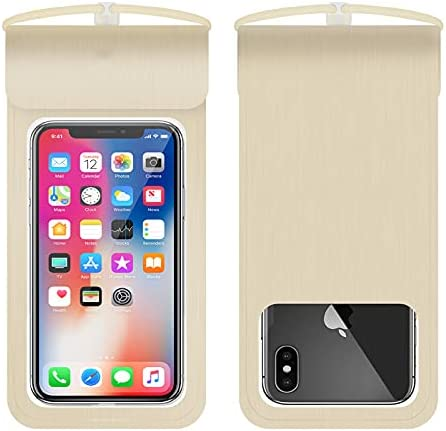 Universal Waterproof Pouch, IPX8 Waterproof Cellphone Dry Bag Underwater Case for iPhone11Pro Max Xs Max XR X 8 7 6S, Galaxy (Gold)