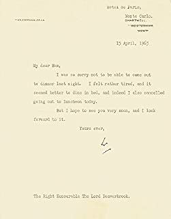 Prime Minister Winston S. Churchill (Great Britain) - Typed Letter Signed 04/15/1963