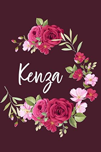 Kenza: Carnet de notes avec Prénom personnalisé Kenza, Cadeau d'anniversaire, noël ou action de grâces pour femmes, maman, sœur, copine, filles. ... pages lignée, Moyen format 15,24 x 22,86 cm
