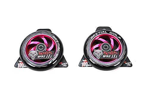 Kit 2 TWISTER-110 Rueda Bestial Wolf 110 mm para patinetes Pro Scooters Ideal para Parck y Freestyle (Rosa)