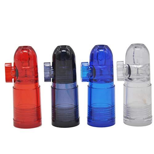 LUCKFY Las Balas de Tabaco Tabaco Botella Snorter Bala Rocket Forma de Botella Nasal Sniff de Cristal (Paquete de 4)