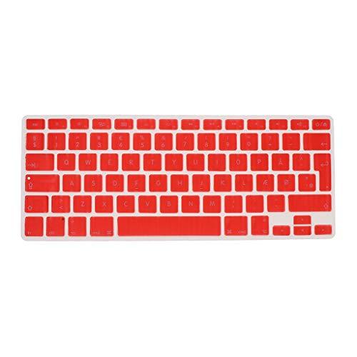 Shiwaki Dänische Phonetische Tastatur Schutzhülle, Kabellose Tastatur Schutzhülle Für 13,3 Zoll 15pro MacBook - rot