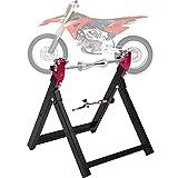 Cocoarm Equilibratrice per Ruota da Motocicletta Manuale Pieghevole Supporto di compensazione per Ruota di Moto Equilibratrice Gomme Moto per l'equilibratura di Cerchioni e Ruote antiruggine