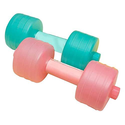 Yeglg - Manubri riempiti di acqua, pesi regolabili riempibili per acqua da viaggio per uomini e donne, set di pesi per allenamento in palestra (2 pezzi)