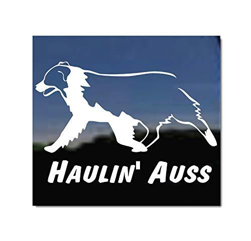 Haulin Auss ~ Australian Shepherd Vinyl Window Auto Decal Sticker