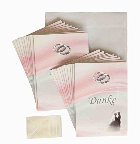 Silberhochzeit Dankeskarten 20 Stück im Set. Erst silberne Hochzeit feiern und dann Danke sagen. 20 Dankekarten, 20 weiße Briefumschläge, 20 Fotoecken mit Foto selber gestalten (20 St. Dankeskarten)