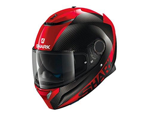 Shark Spartan - Casco integral negro y rojo, talla XXL