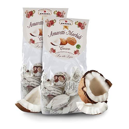 Amaretti Sabor Coco - Galletas Italianas de Almendra - 150 Gramos (Paquete de 2 Piezas)