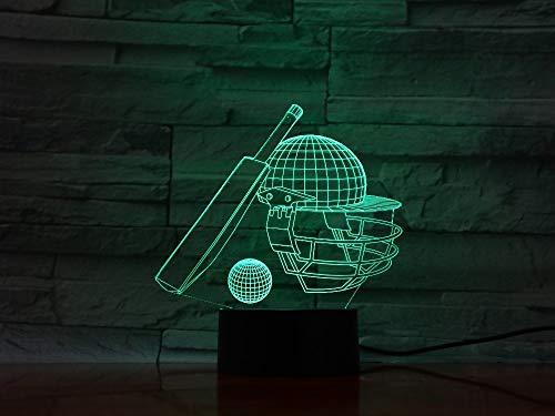 Jiushixw 3D acryl nachtlampje met afstandsbediening van kleur veranderende tafellamp kind cadeau goud kristal tafellamp
