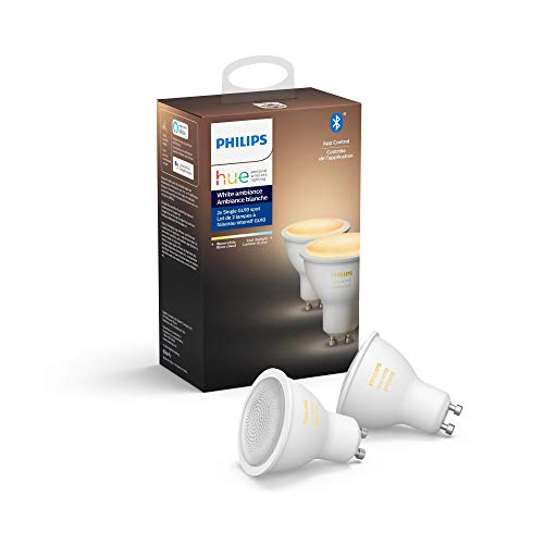 Philips Hue White Ambiance A19 LED Smart Bulb, Bluetooth & Zigbee compatible (Hue Hub Optional), voice activated with Alexa, A Certified for Humans Device