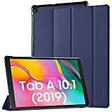 EasyAcc Funda Compatible con Samsung Galaxy Tab A 10.1 2019, Ultra Slim PU Protectora Carcasa con Función de Soporte Compatible con Samsung Galaxy Tab A 10.1 2019 SM-T510/ T515, Azul