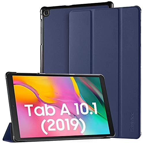 EasyAcc Hülle Kompatibel mit Samsung Galaxy Tab A 10.1 2019 T510/ T515-Ultra Dünn mit Standfunktion Slim PU Leder Smart Schutzhülle Kompatibel mit Samsung Galaxy Tab A T510/ T515 10.1 Zoll 2019,Blau