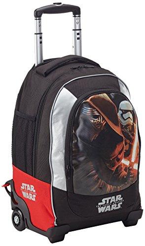 Star Wars Zaino Trolley Scuola Estensibile con Spada in Omaggio Zainetto per bambini, Poliestere, Nero, 50 cm