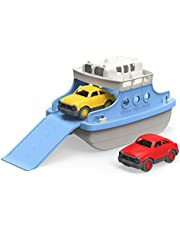 Save on Green Toys FRBA-1038 Ferry Boat with Mini Cars Bathtub Toy, Blue/White