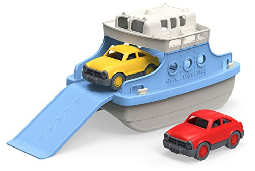 Best Review Of Green Toys Ferry Boat with Mini Cars Bathtub Toy, Blue/White