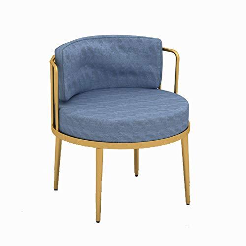 Silla de sofá de Tela Individual de Ocio, Estilo Moderno y Sencillo, sillón tapizado de Tela, Tienda de té Cafetería Tarjeta de Ocio Sofá Sofá,Light Blue