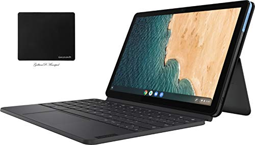 """Newest Lenovo Chromebook Duet 10.1"""" FHD (1920 x 1200) Touchscreen 2-in-1 Tablet Laptop, 8-Core MediaTek Helio P60T, 4GB RAM, 128GB eMMC, Dual Cameras, Chrome OS with GalliumPi Accessories"""