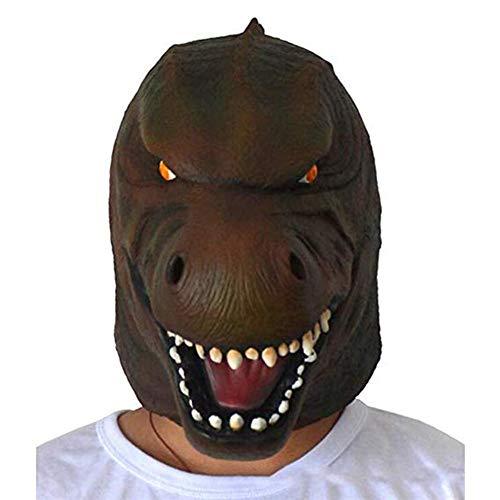 ZTGHS Godzilla Monster Maske, Deluxe Neuheit Halloween Kostüm Party Latex Tierkopf Maske Für Erwachsene Und Kinder, Einheitsgrösse