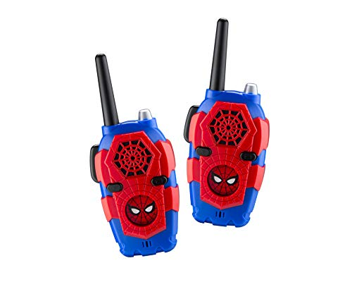 Walkie Talkies for Kids Spiderman Far from Home Kids Walkie Talkies FRS Range Lights & Sound Kid Friendly Easy to Use for Indoor Outdoor Adventures