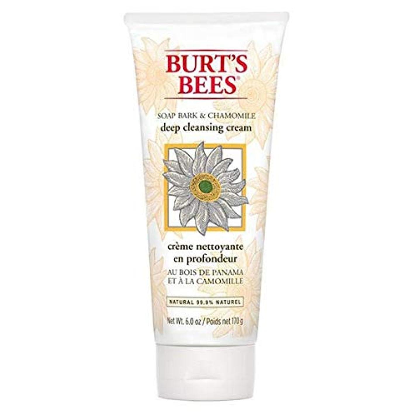 成功する聖域蒸留する[Burt's Bees ] バーツビー石鹸樹皮&カモミールディープクレンジングクリーム170グラム - Burt's Bees Soap Bark & Chamomile Deep Cleansing Cream 170g [並行輸入品]