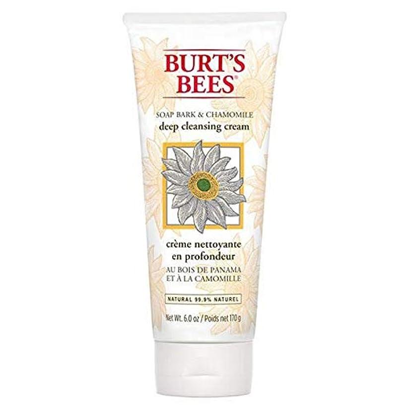 聖なる余暇誠実さ[Burt's Bees ] バーツビー石鹸樹皮&カモミールディープクレンジングクリーム170グラム - Burt's Bees Soap Bark & Chamomile Deep Cleansing Cream 170g [並行輸入品]