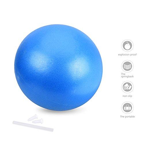 OZUAR Mini Pelota de Ejercicio de 25cm, Profesional Bola de Entrenamiento Antiexplosión y Antideslizante para Gimnasio, Yoga, Masaje y Pilates en Casa Azul