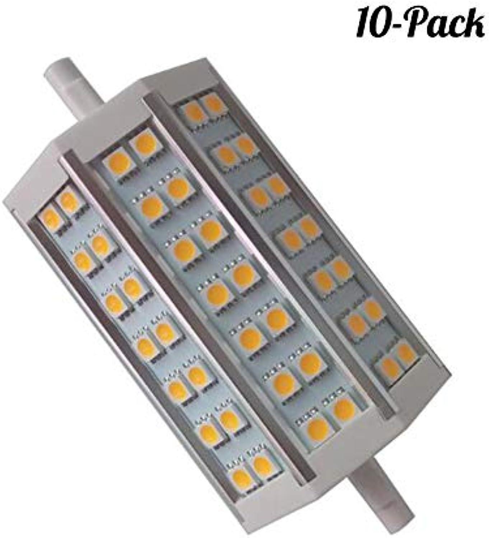 YUN Light Bulb@ 10W Non Dimmbare R7s Linear LED Tube 118mm Kühl Wei 6000K 200 Degrees Super Bright J Typ J118 R7s Scheinwerfer-Birnen-100W Halogen-Ersatz LED (10- Packs) [Energieklasse A+]