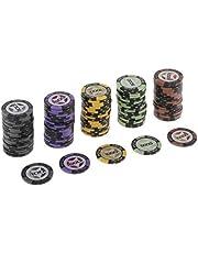 sharprepublic 100 Piezas Set Fichas de Poker de Arcilla Accesorio de Juego de Poker de Casino