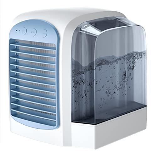 ZHURGN Breeze Maxx Air Cooler, AC portatile 4-in-1 con serbatoio dell'acqua a 380 ml, 2021 AC portatile AC, 3 velocità Blast Desktop AC URTLA, Condizionatore per desktop Desktop Air Blast per ufficio,