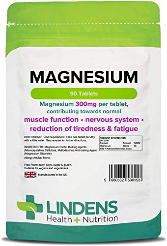 Lindens Magnesium Oxide 500mg DOUBLE PACK 180 Tablets Mineral Supplement