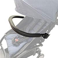 Barras de parachoques de silla de paseo. Apoyabrazos de silicona negro Adecuado para cochecito Baby Yoyo/Bee. (Negro-Silicona)
