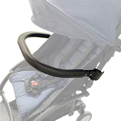 Barras de parachoques de silla de paseo. Apoyabrazos de silicona negro Adecuado para cochecito Baby Yoyo/Bee. (Negro-Silicona) ✅