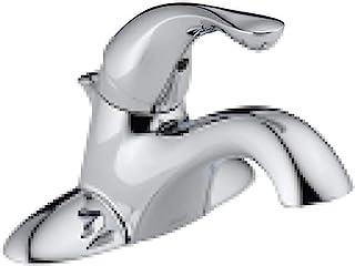Delta 520-MPU-DST Classic Single Handle Centerset Bathroom Faucet, Chrome, 5.00 x 6.50 x 5.00 inches
