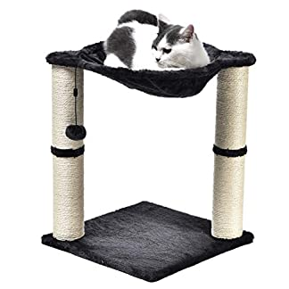 Amazon Basics Cat Condo Tree Tower With Hammock Bed And Scratching Post - 16 x 20 x 16 Inches, Grey 14