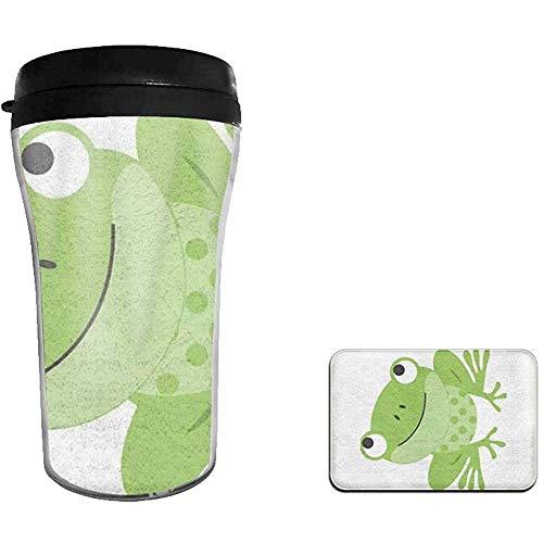 Tazza da viaggio in acciaio inossidabile a doppia parete Green Frog isolata da 8 once