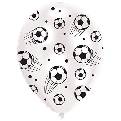 amscan Bola de fútbol de látex para decoración de fiesta - 6 piezas
