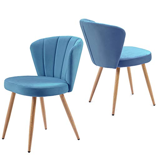 Retro Style Dining Chairs - Padded Seat | Wood Legs | Dining Chairs | Classic Design, for Kitchen Restaurant Lounge