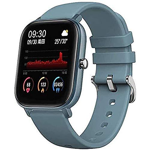 Pantalla táctil de 1,4 pulgadas IP68 impermeable BT 4.2 pulsera inteligente deportes banda fitness actividad reloj inteligente ritmo cardíaco presión arterial sueño Monitor-rosa